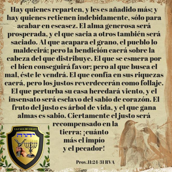 Prov.11_24-31 Casa de Yisrael