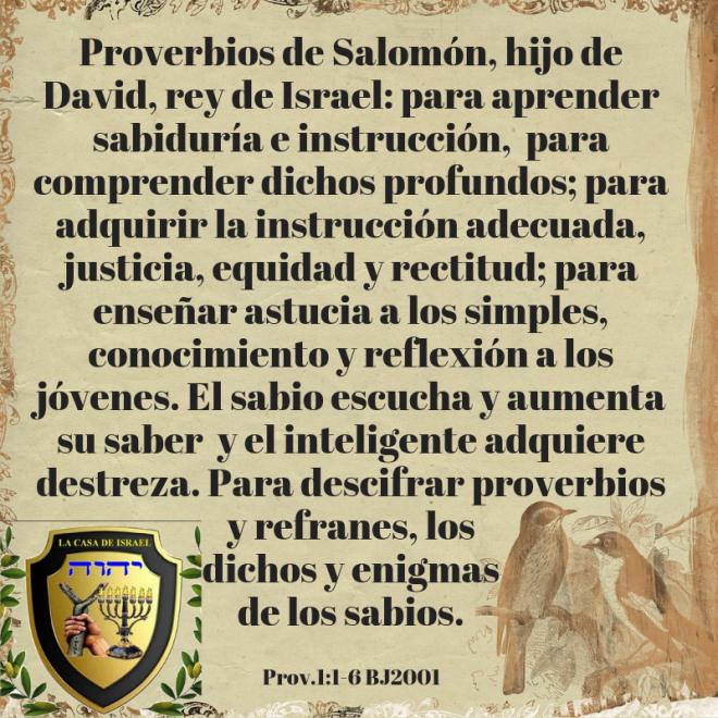 Prov.1_1-6 Casa de Yisrael
