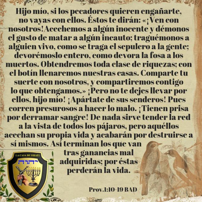 Prov.1_10-19 Casa de Yisrael