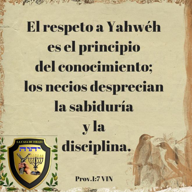 Prov.1_7 Casa de Yisrael