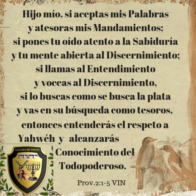 Prov.2_1-5 Casa de Yisrael