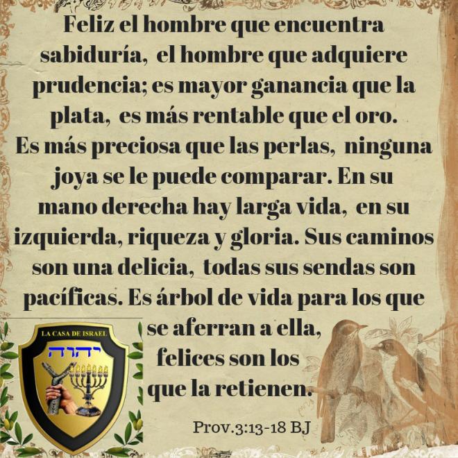 Prov.3_13-18 Casa de Yisrael