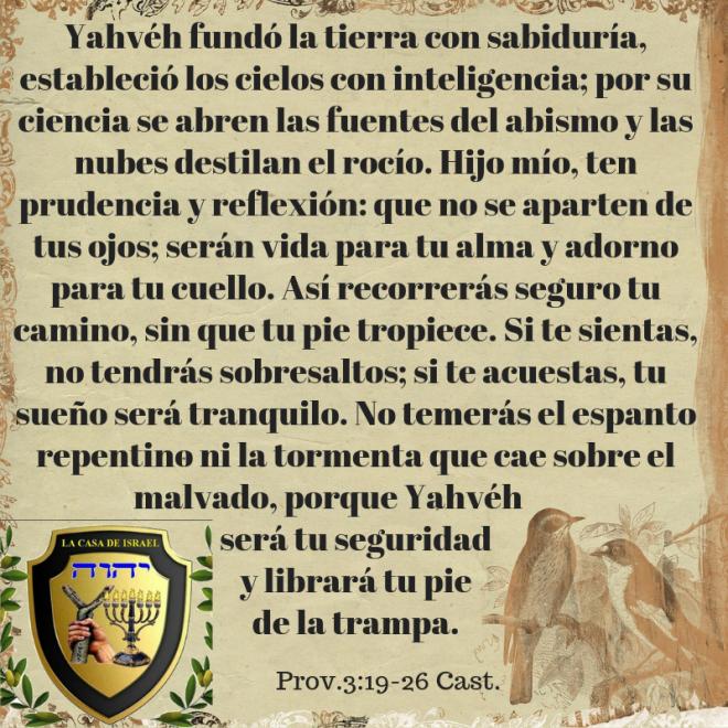 Prov.3_19-26 Casa de Yisrael
