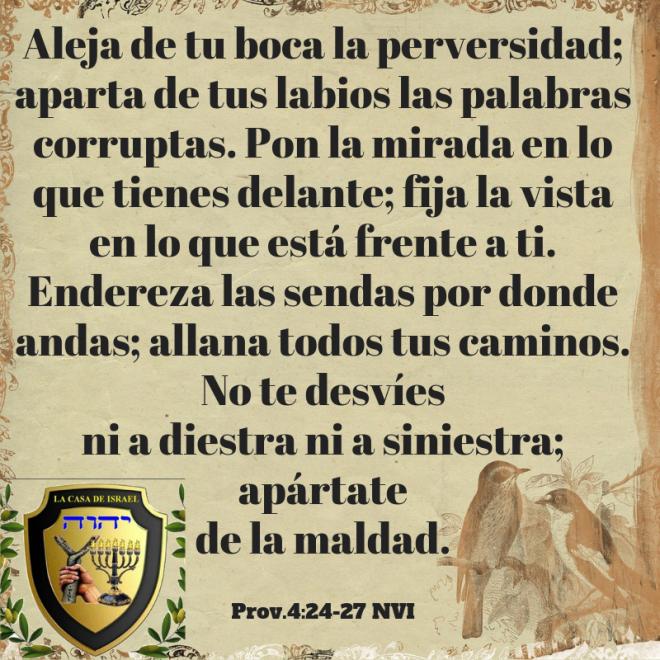 Prov.4_24-27 Casa de Yisrael