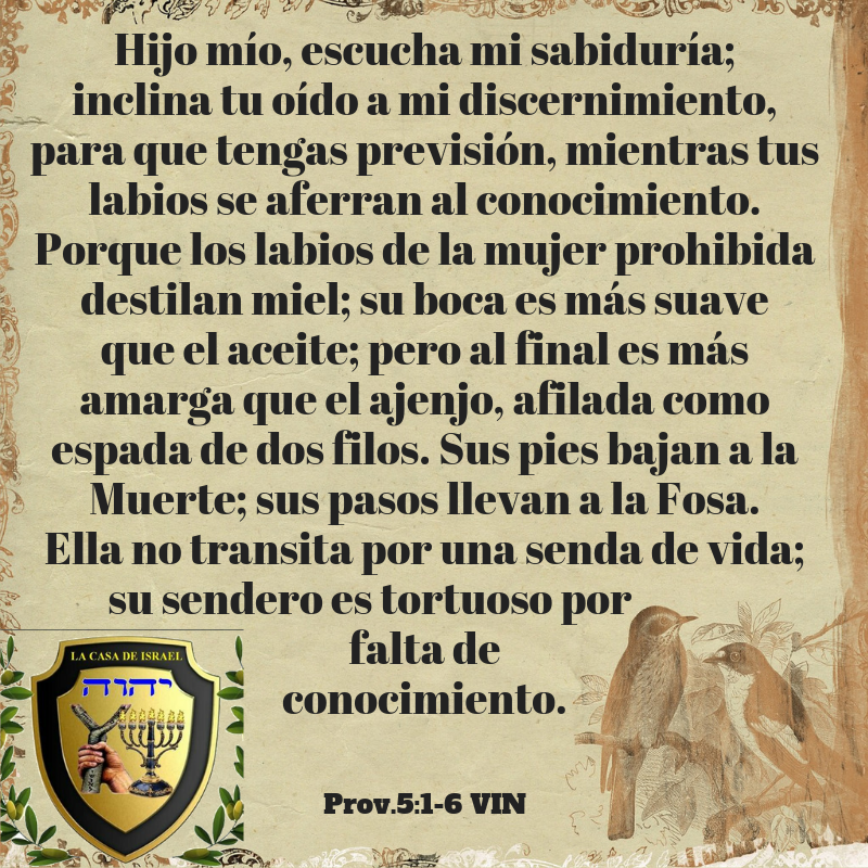 Prov.5_1-6 Casa de Yisrael