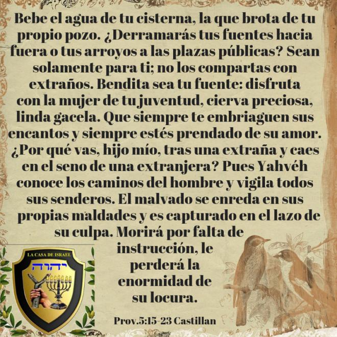 Prov.5_15-23 Casa de Yisrael