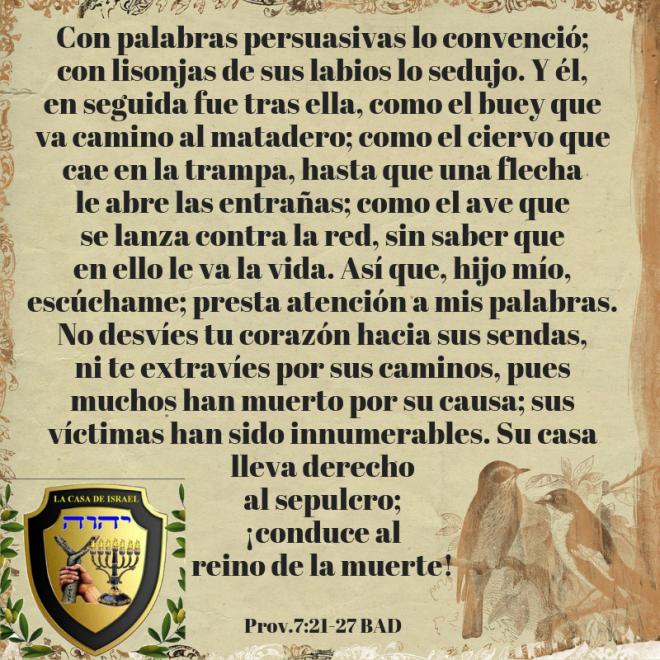 Prov.7_21-27 Casa de Yisrael