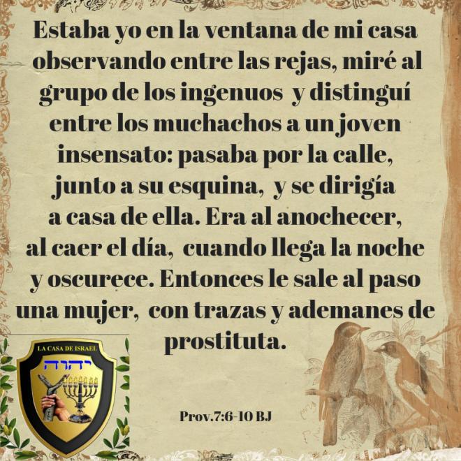 Prov.7_6-10 Casa de Yisrael