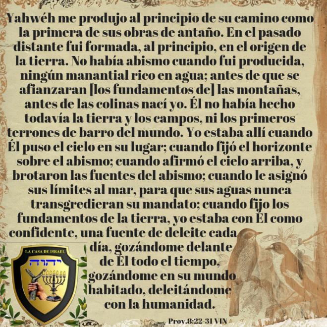 Prov.8_22-31 Casa de Yisrael