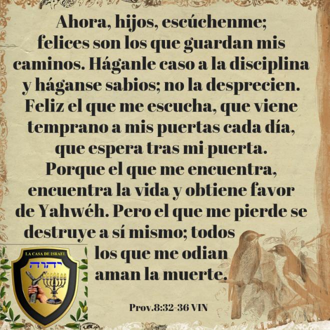 Prov.8_32-36 Casa de Yisrael