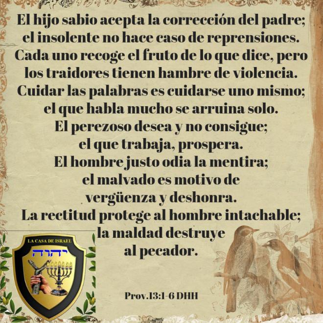 Prov.13_1-6 Casa de Yisrael