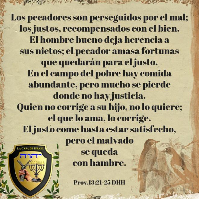 Prov.13_21-25 Casa de Yisrael
