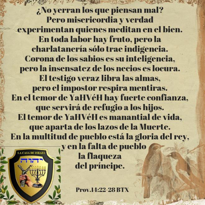 Prov.14_22-28 Casa de Yisrael