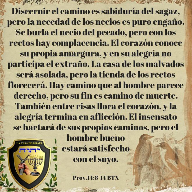 Prov.14_8-14 Casa de Yisrael