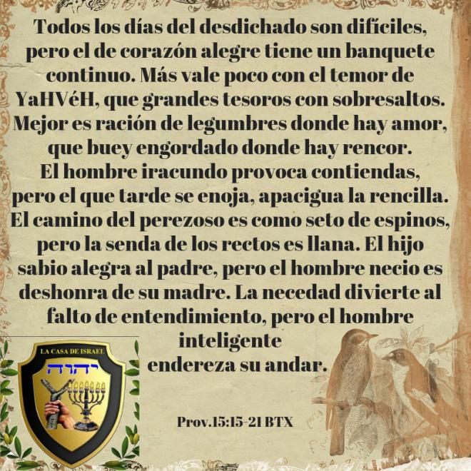 Prov.15_15-21 Casa de Yisrael