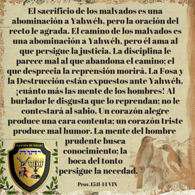 Prov.15_8-14 Casa de Yisrael
