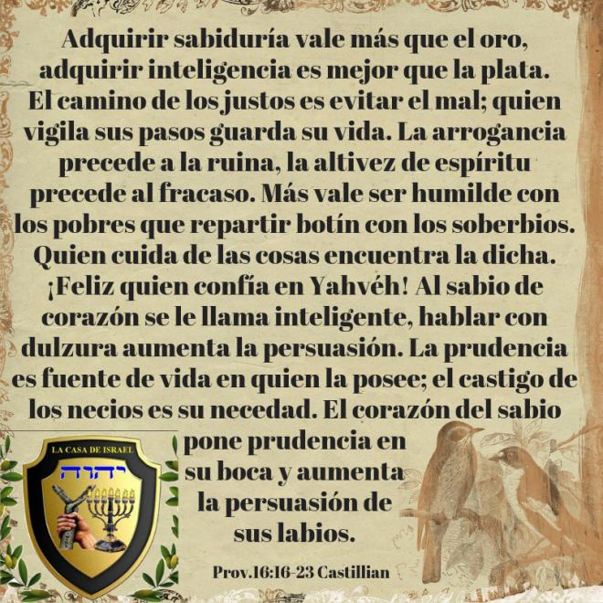 Prov.16_16-23 Casa de Yisrael