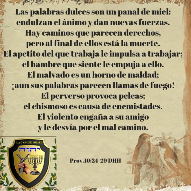 Prov.16_24-29 Casa de Yisrael