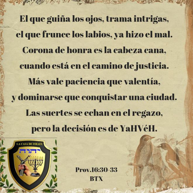 Prov.16_30-33 Casa de Yisrael