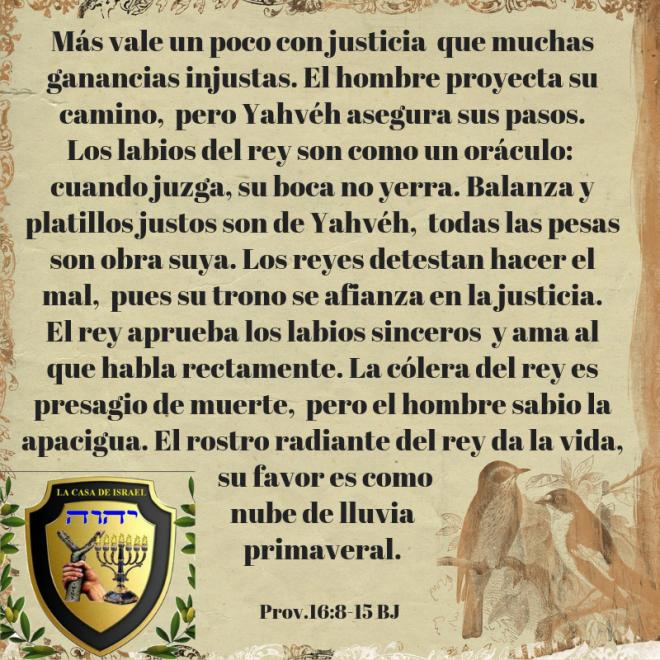 Prov.16_8-15 Casa de Yisrael