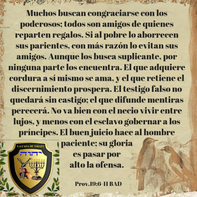 Prov.19_6-11 Casa de Yisrael