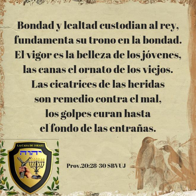 Prov.20_28-30 Casa de Yisrael