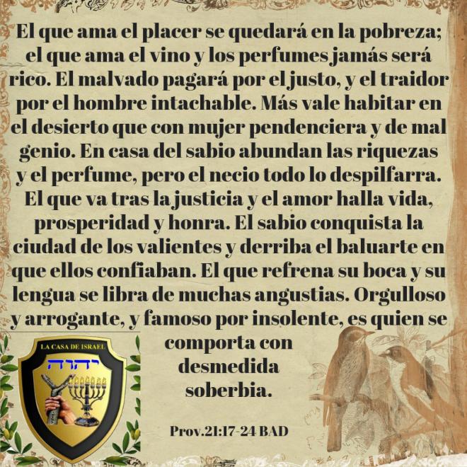Prov.21_17-24 Casa de Yisrael