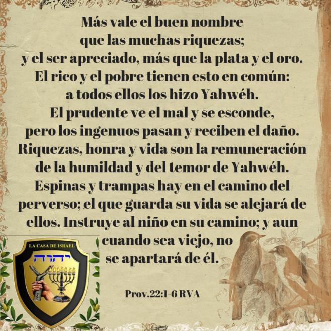 Prov.22_1-6 Casa de Yisrael