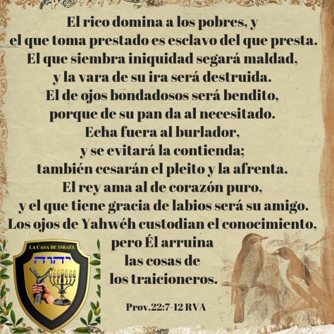 Prov.22_7-12 Casa de Yisrael